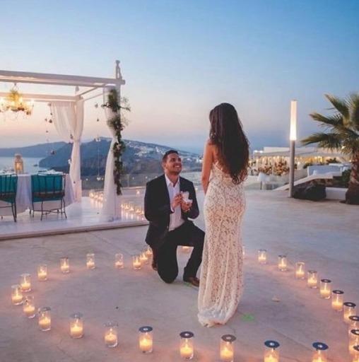 demande en mariage romantique bougie fleur grand jeu