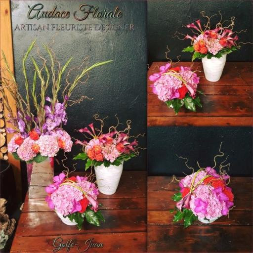 Commande fleur bouquet Valbonne artisan fleuriste Audace Florale