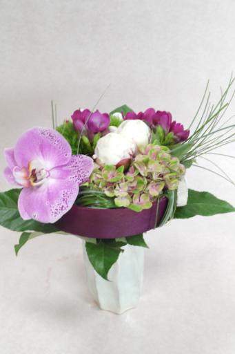 Commande composition florale Montreuil-Juigne fleuriste créateur Fleurs de Lou
