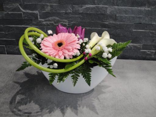 Livraison bouquet Marest-Dampcourt artisan fleuriste Les Fleurs de Julie