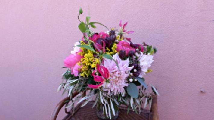 Commande bouquets de fleur Nice fleuriste Tepee Sauvage
