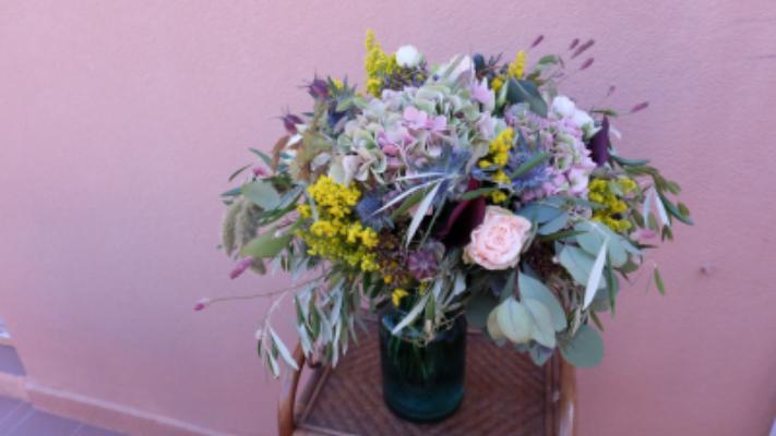 Commander bouquet fleurs Orx artisan fleuriste Tepee Sauvage