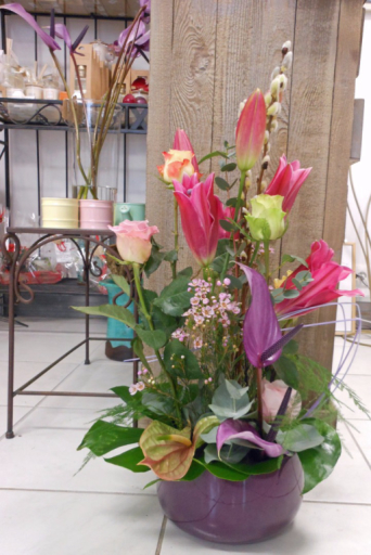 Commande bouquet fleur Saint-Caprais fleuriste A la Magie de Léa