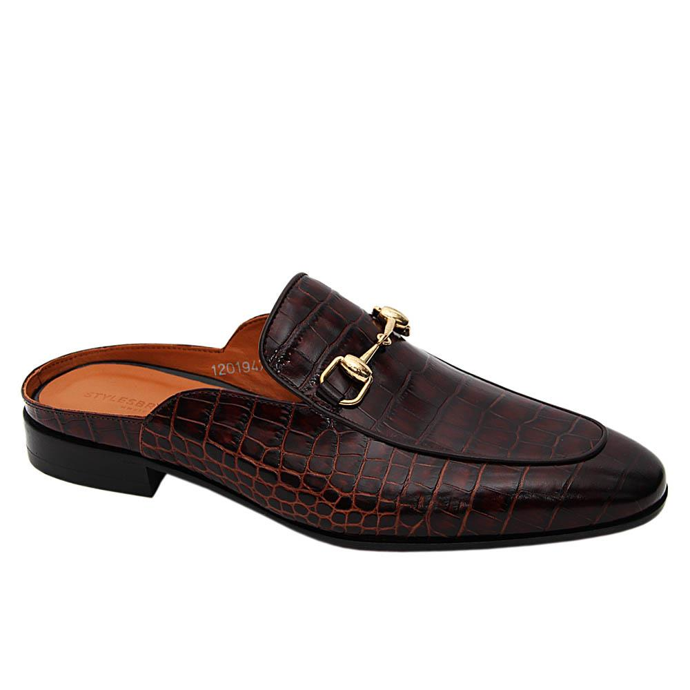 Coffee Apollo Italian Leather Half Shoe