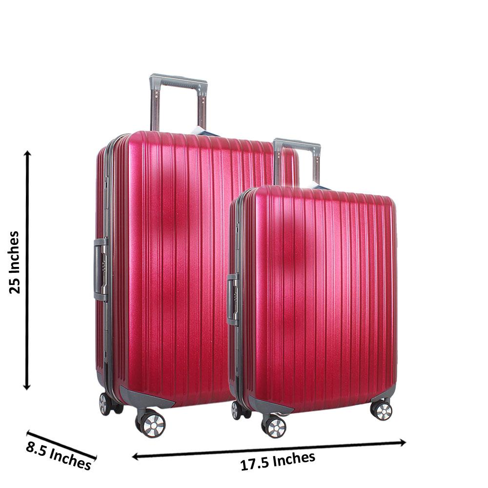 Baby Pink 25 inch Wt 20 inch 2 in 1 Hardshell Luggage Set Wt TSA Lock
