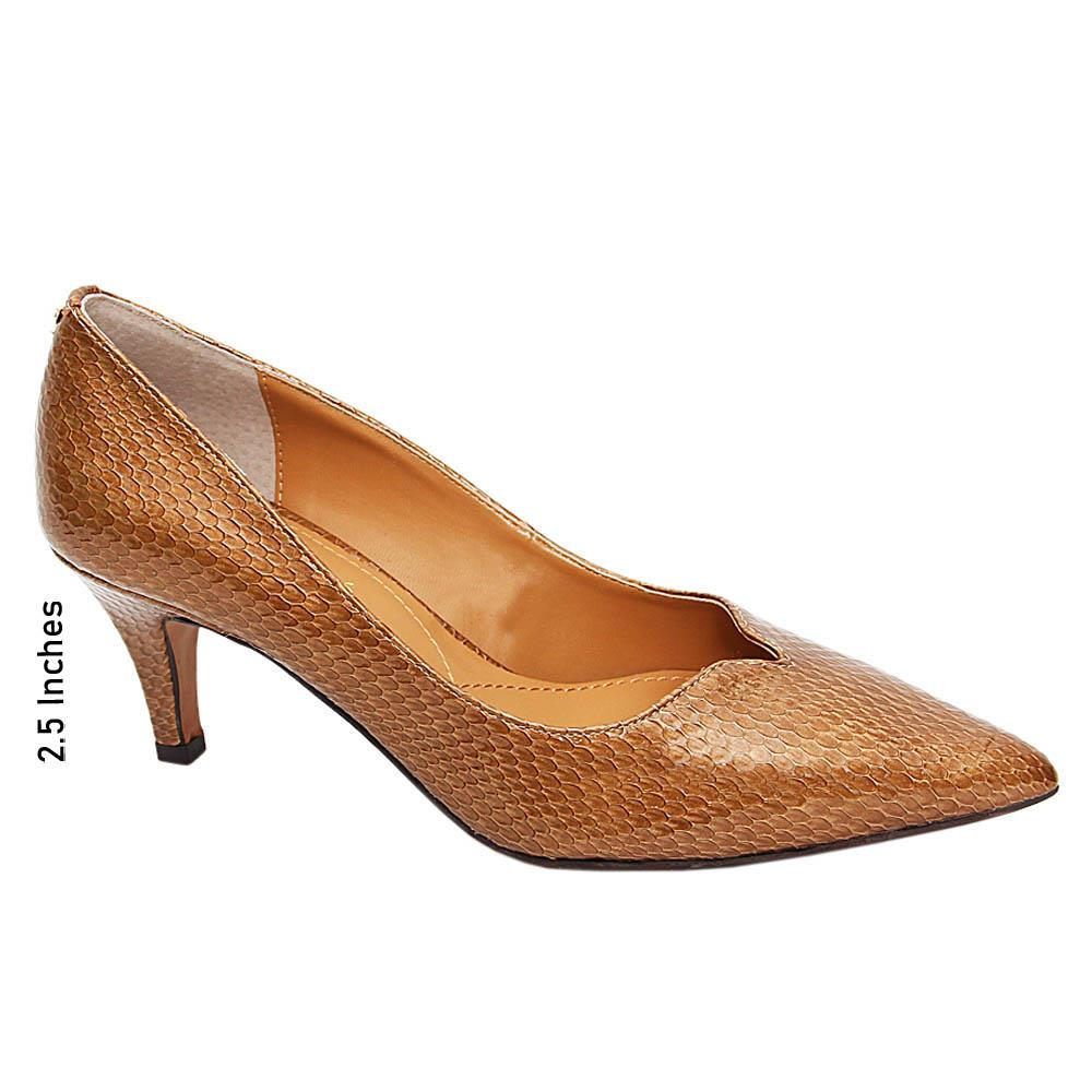 Dark Gold Cece Paatent Leather Mid Heel Pumps