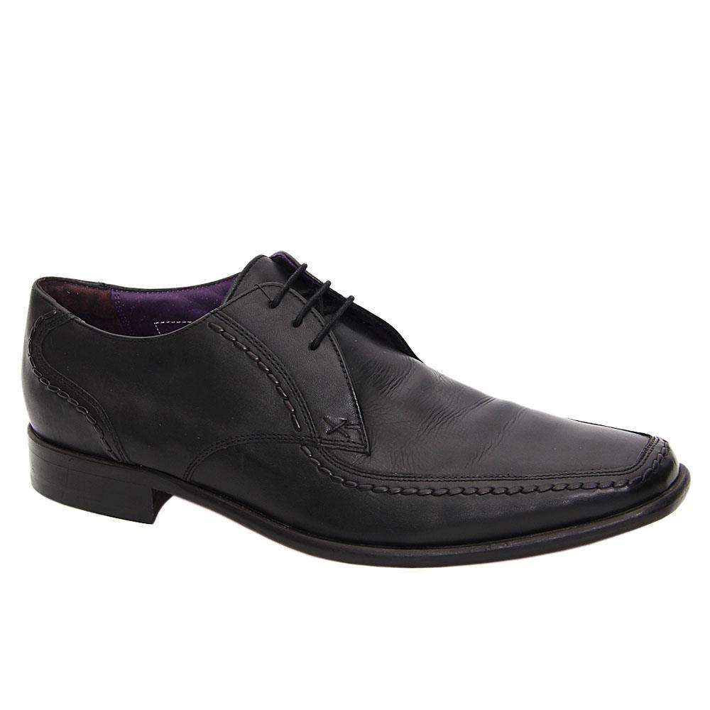 Black Castle Leather Men Derby Shoes