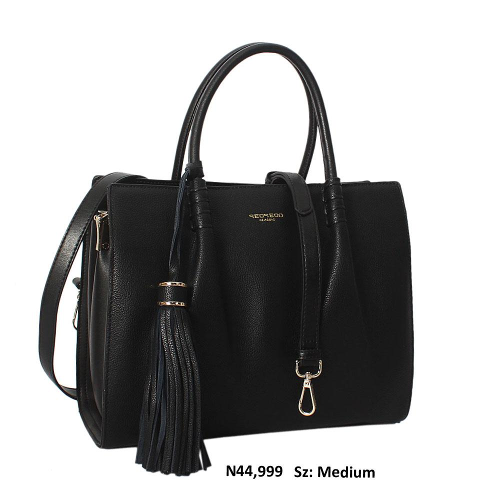 Serena Blue Cowhide Leather Tote Handbag