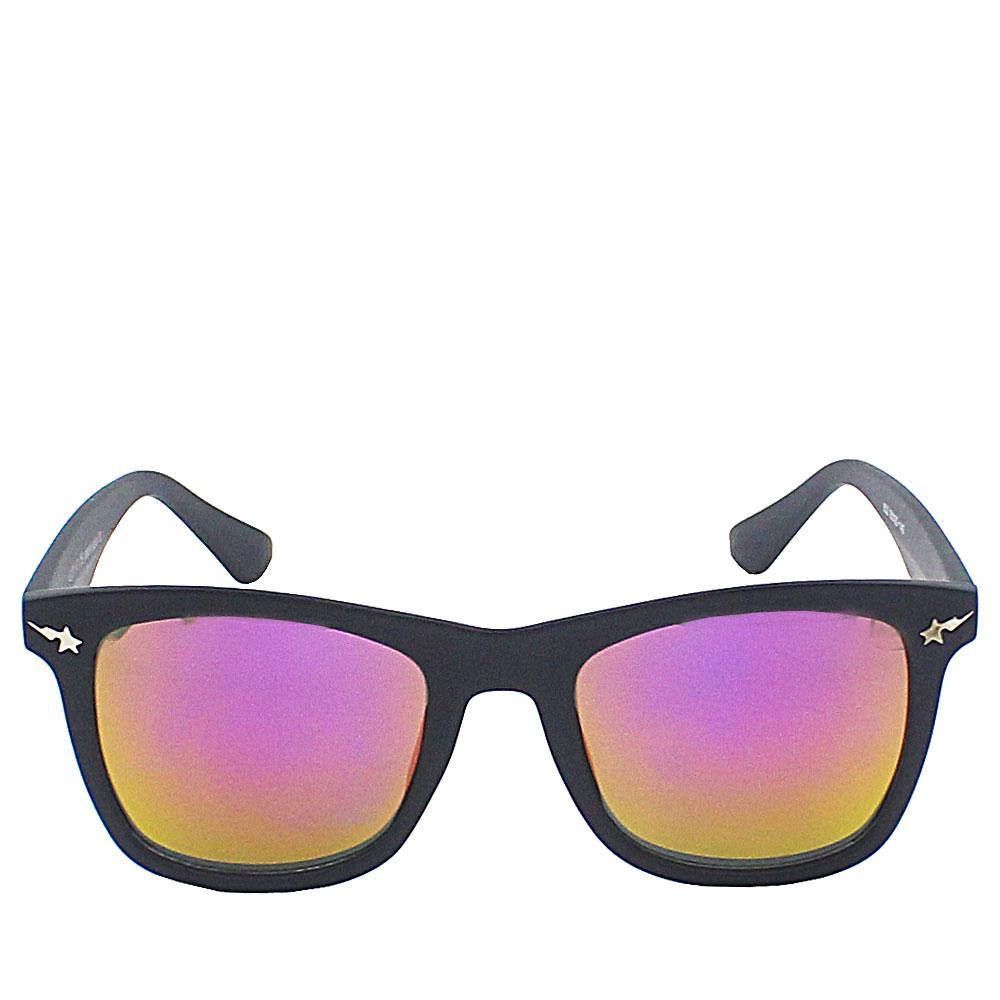 Black Wayfarer Pink Lens Sunglasses
