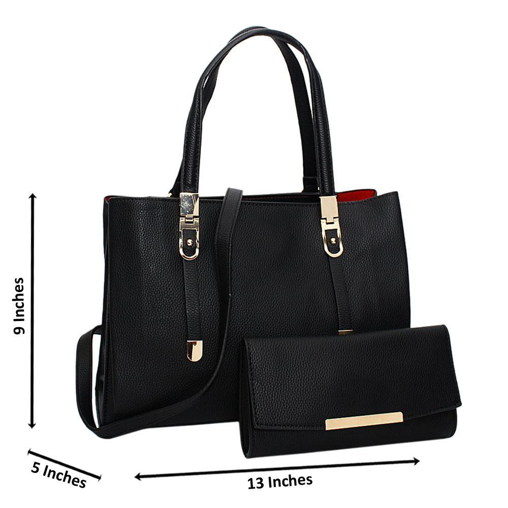 Black-Scarlett-Leather-Medium-Tote-Handbag