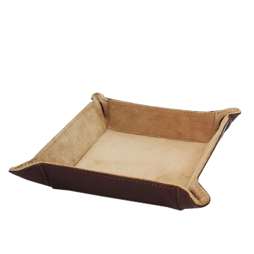 Brown Leather Luxury Tidy Tray