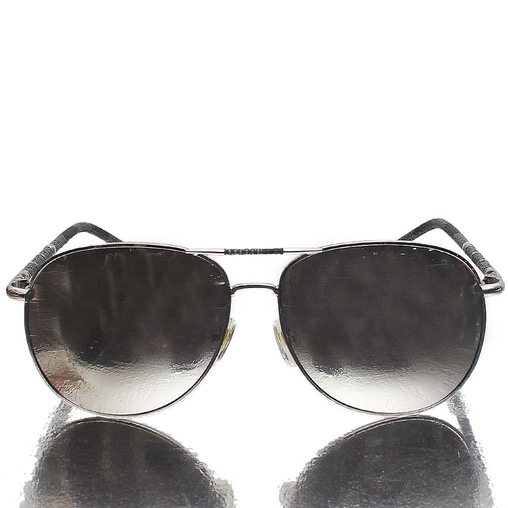 Silver Gray Aviator Mirrored Lens Sunglasses