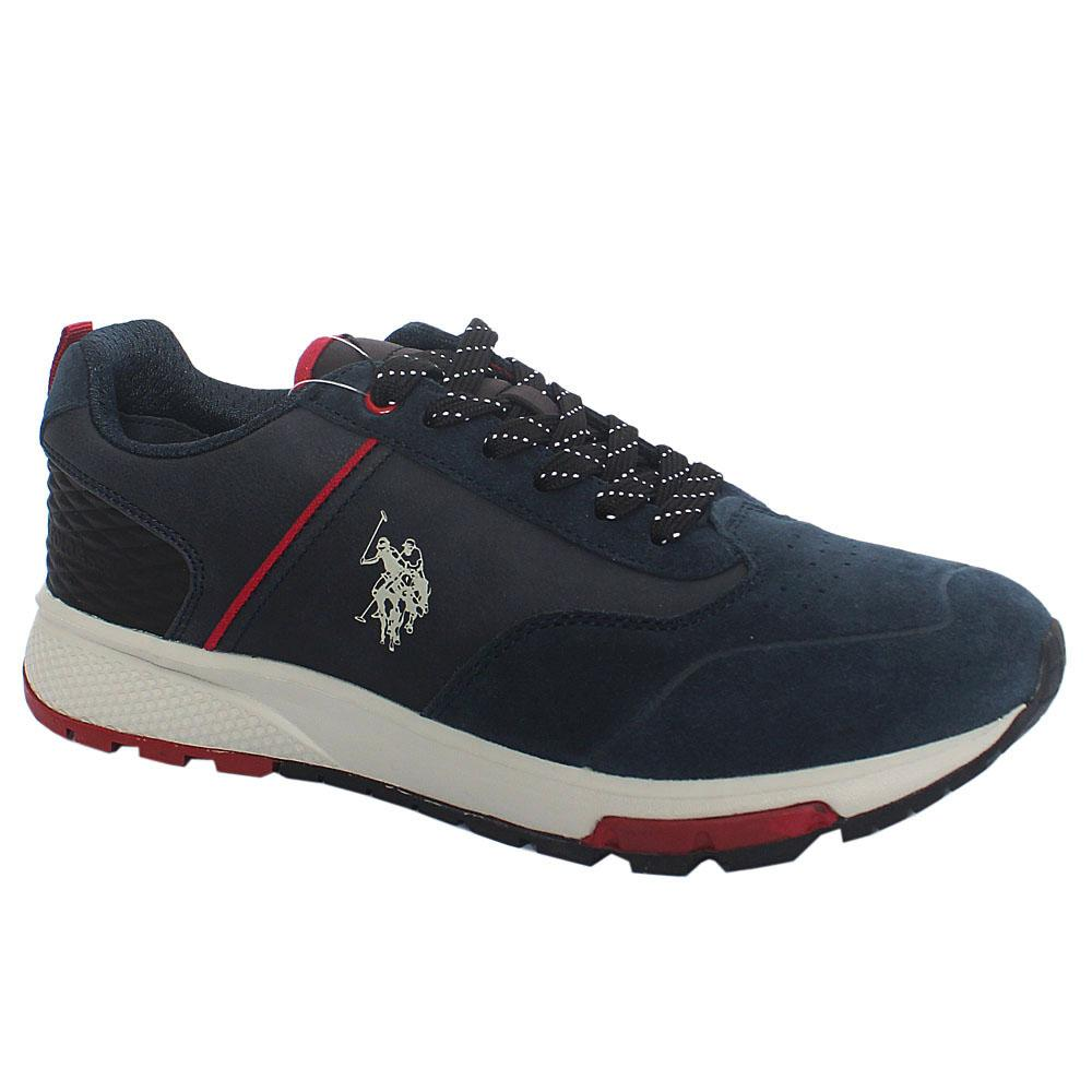Navy Heck Suede Leather Sneakers