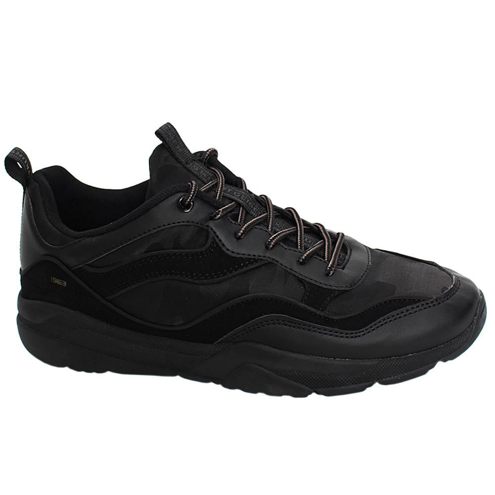 Black Eric Alfred Leather Breathable Men Sneakers
