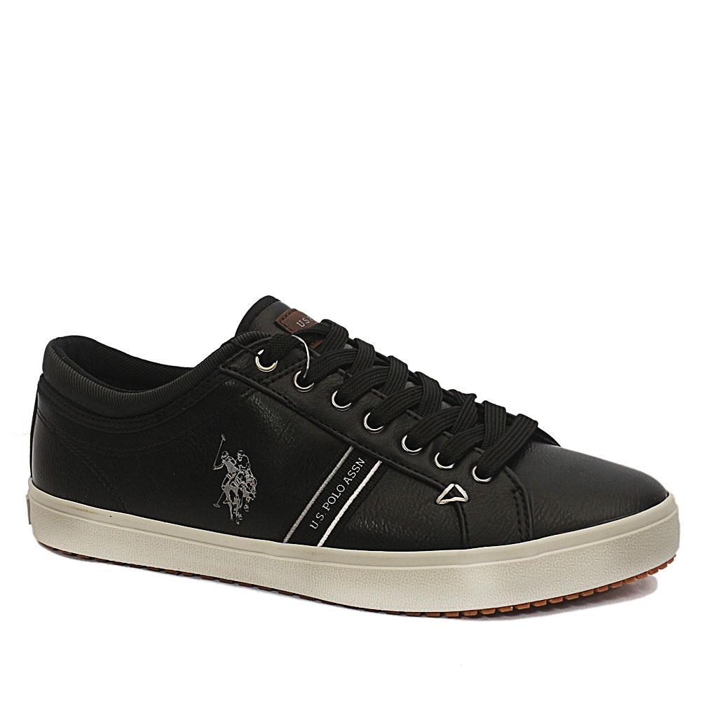 Sz 41 USSPA Black Wey Leather Sneakers