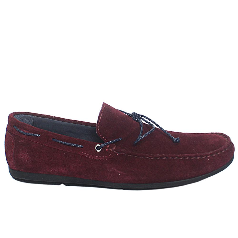 Wine Claudio Suede Leather Drivers Shoes