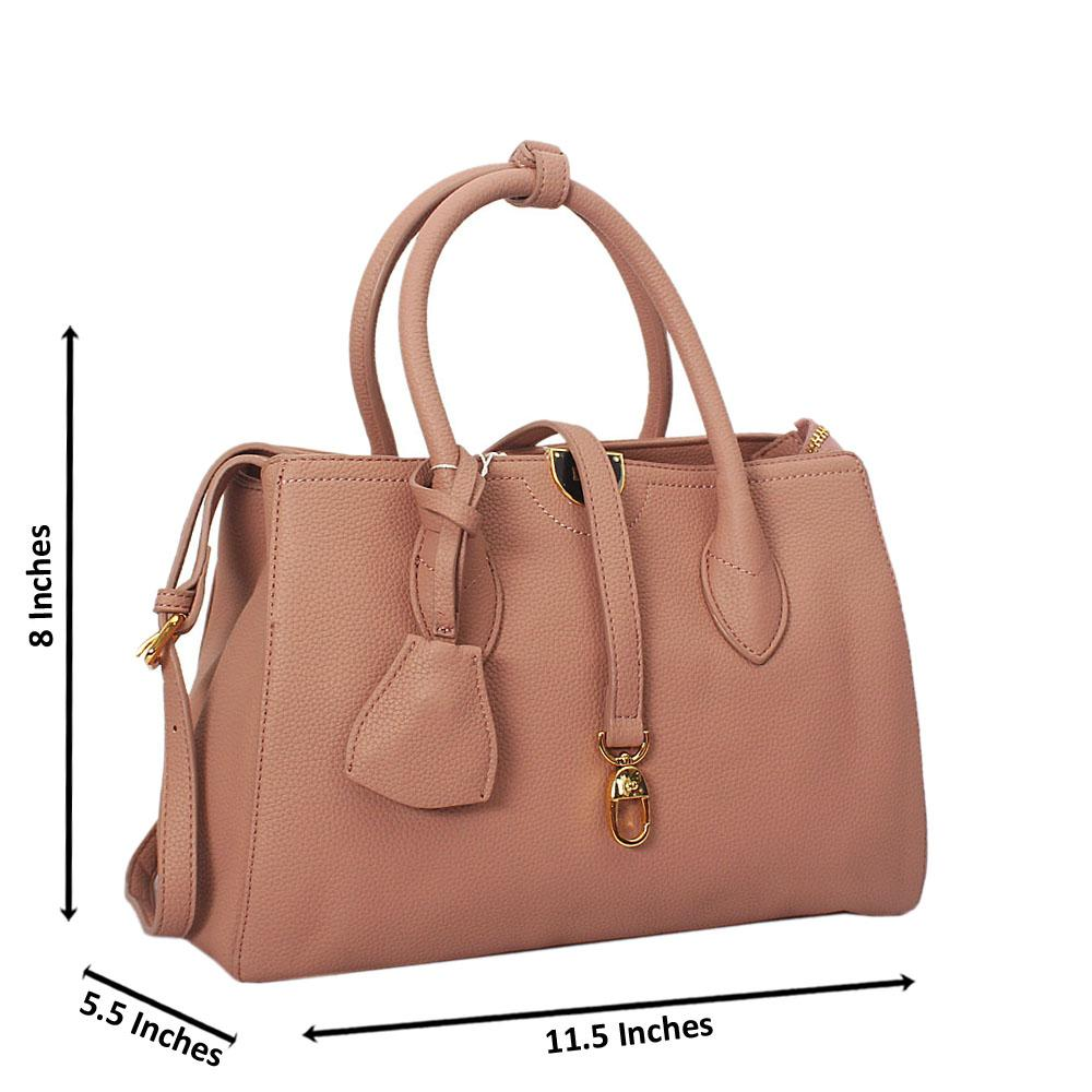 Octavia Peach Montana Leather Tote Handbag