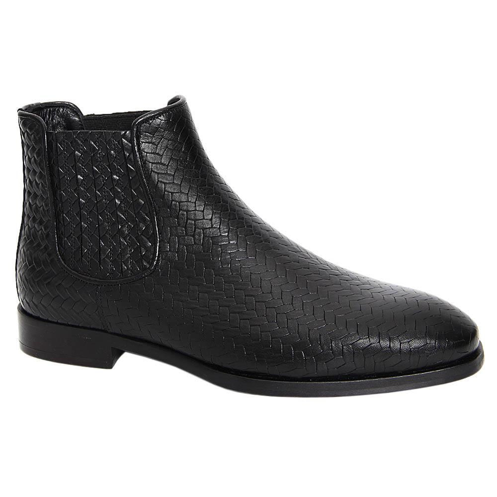 Black Fernando Italian Leather Chelsea Boot