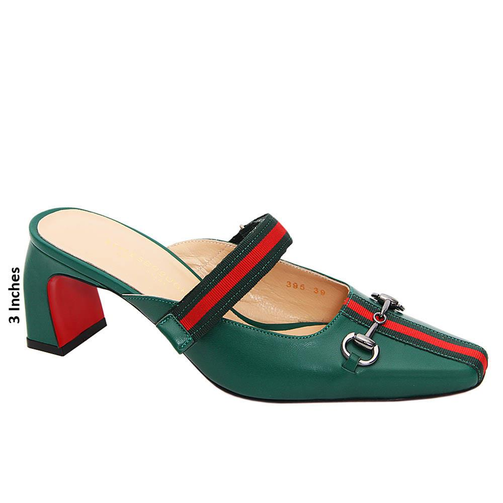 Green Cassey Tuscany Leather High Heel Pumps