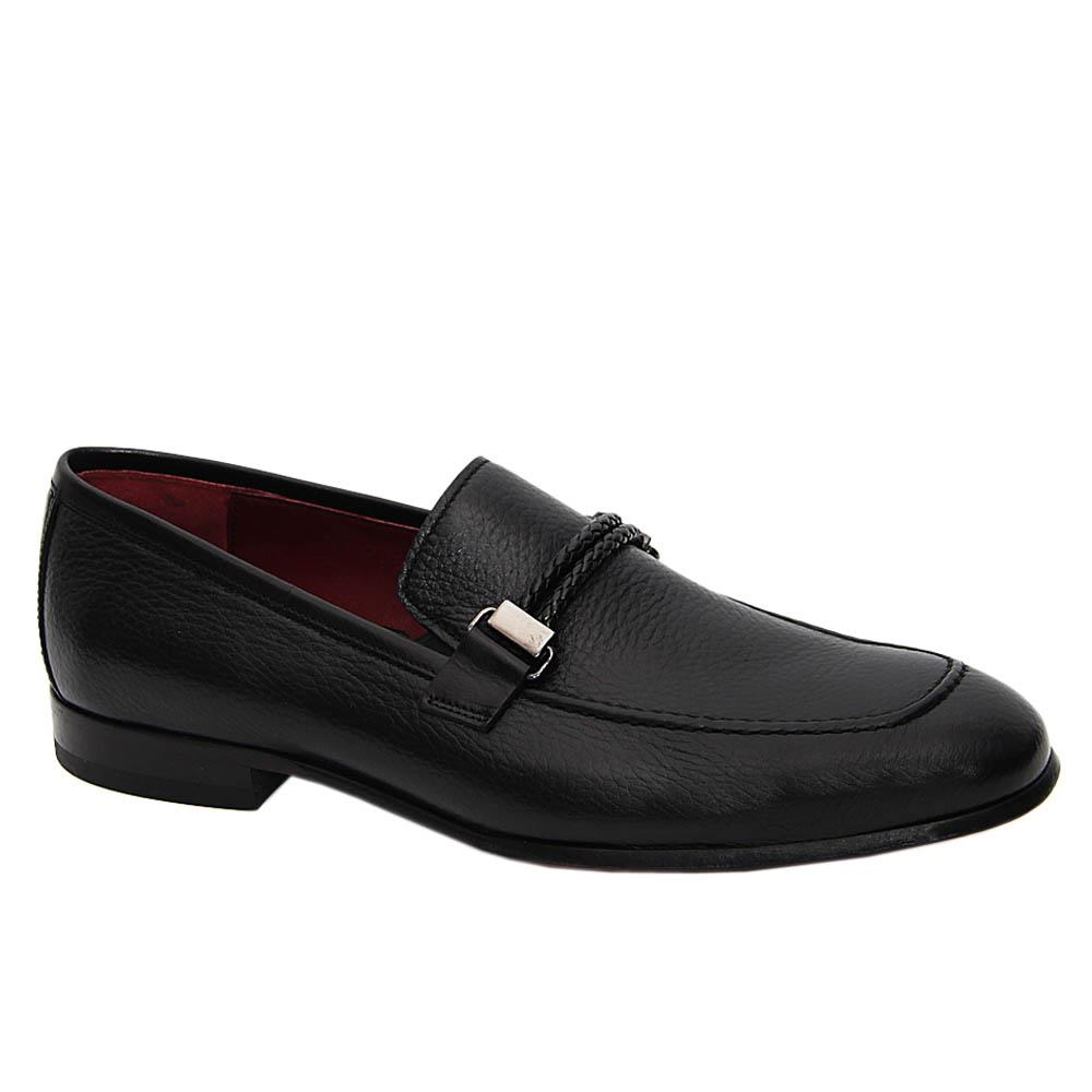 Black Orlando Italian Soft Leather Loafers