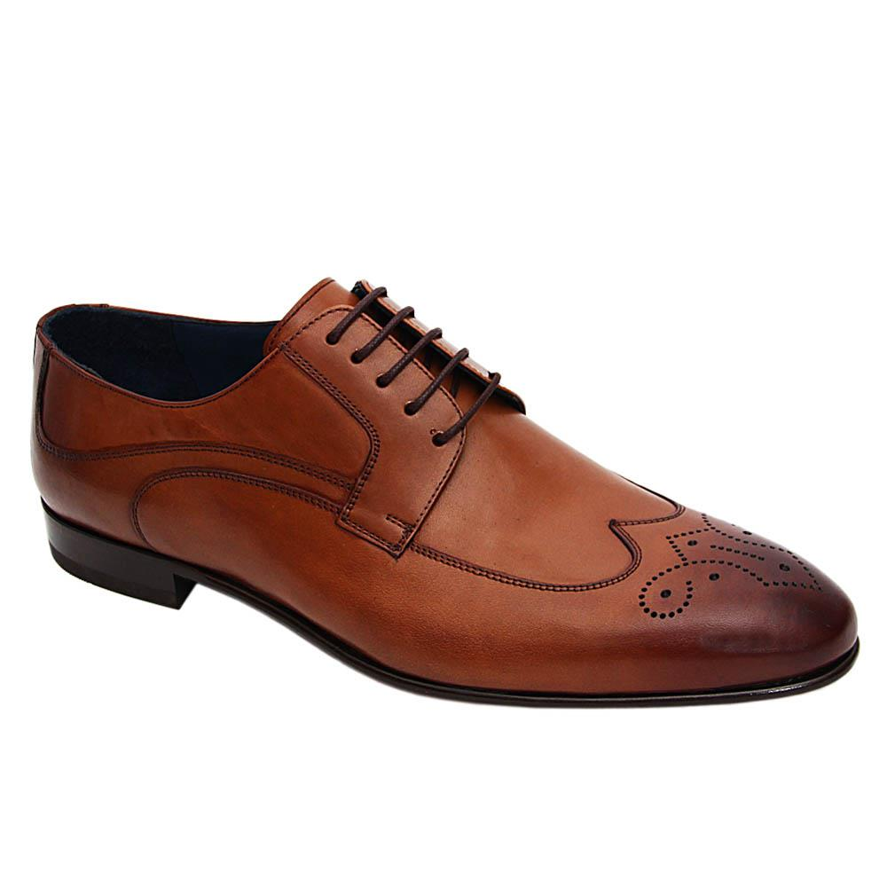 Brown Harry Fritz Italian Leather Derby Shoe