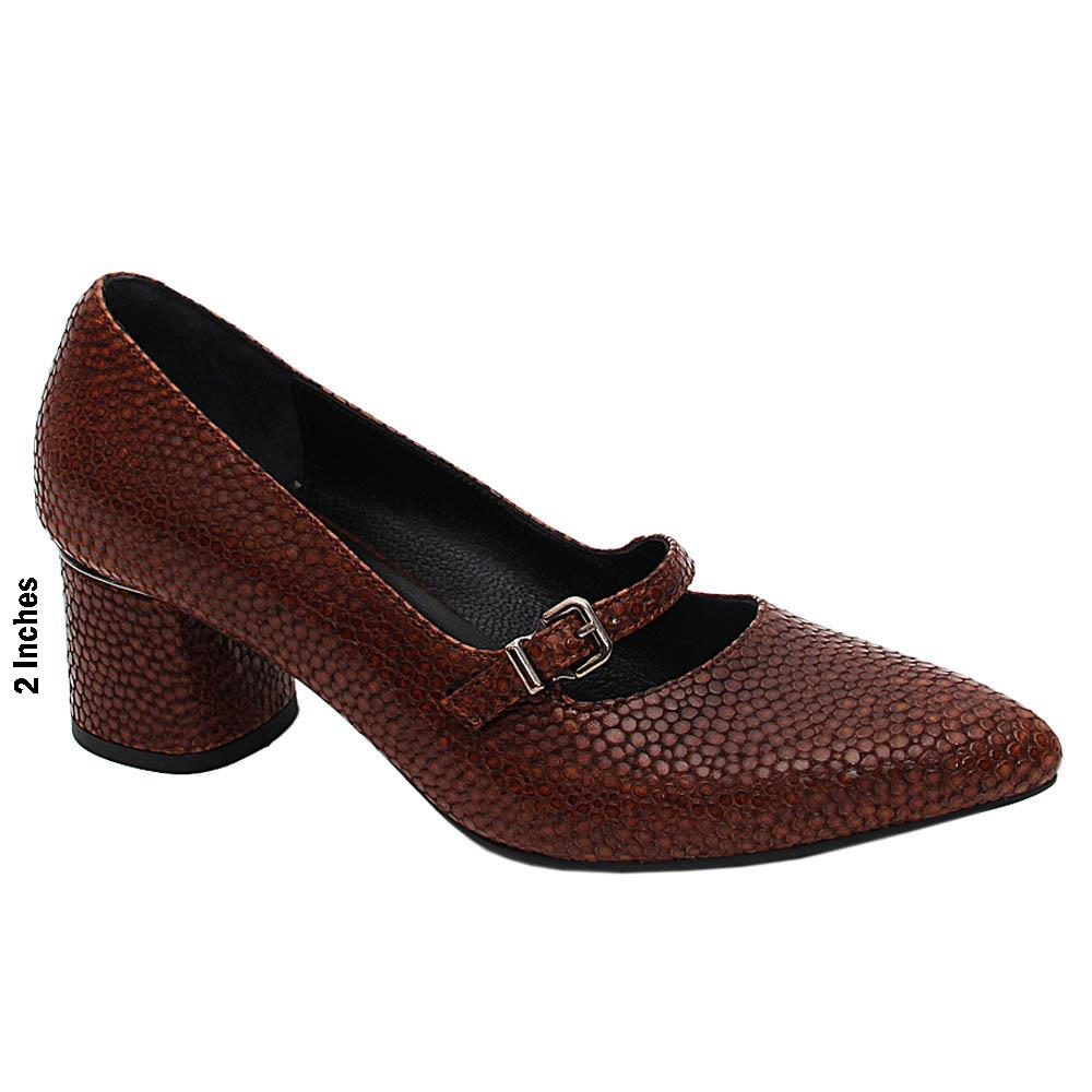 Coffee Tory Ross Italian Leather Mid Heel Pumps