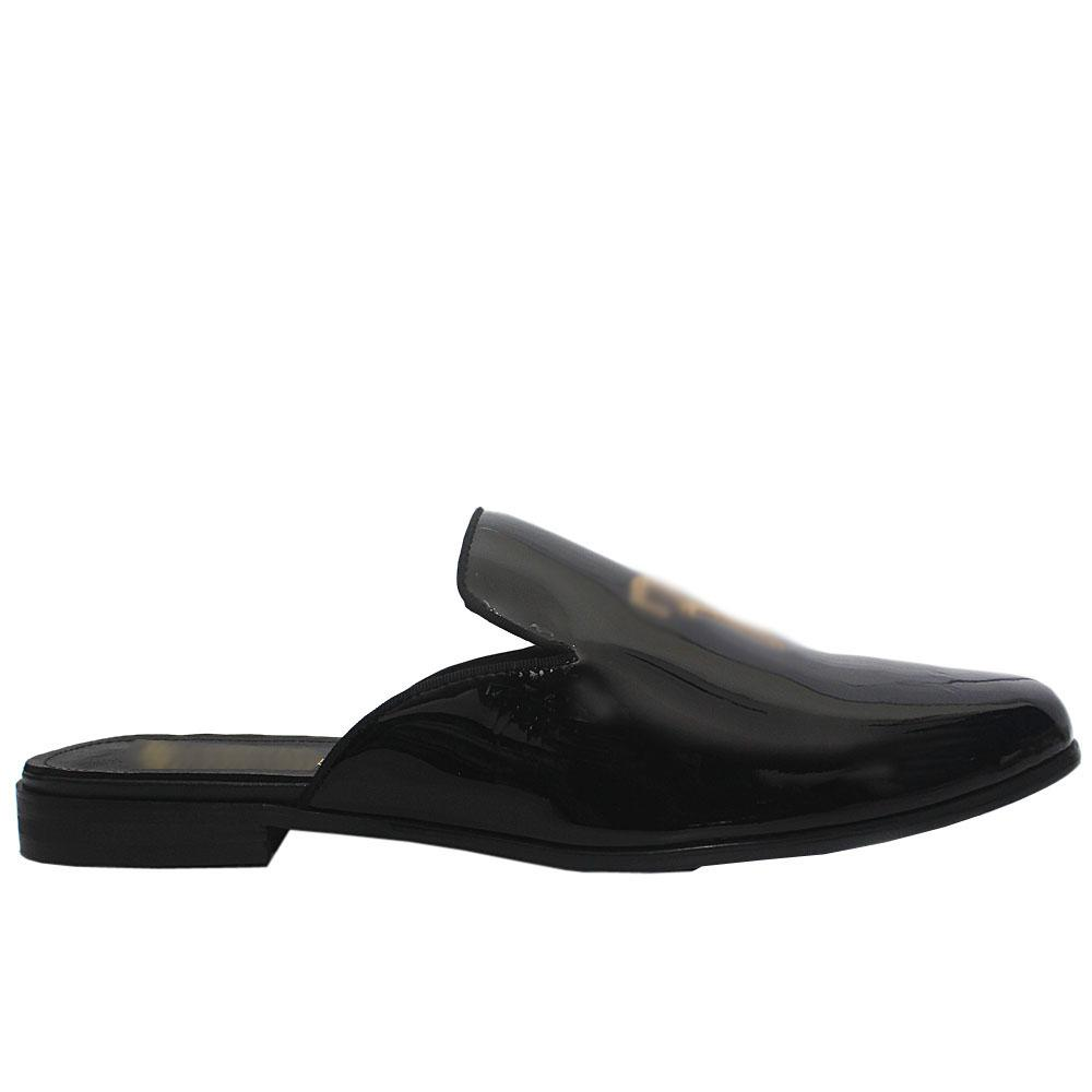 Black Patent Leather Half Shoes
