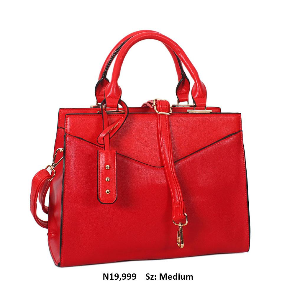 Red Soraya Leather Tote Handbag
