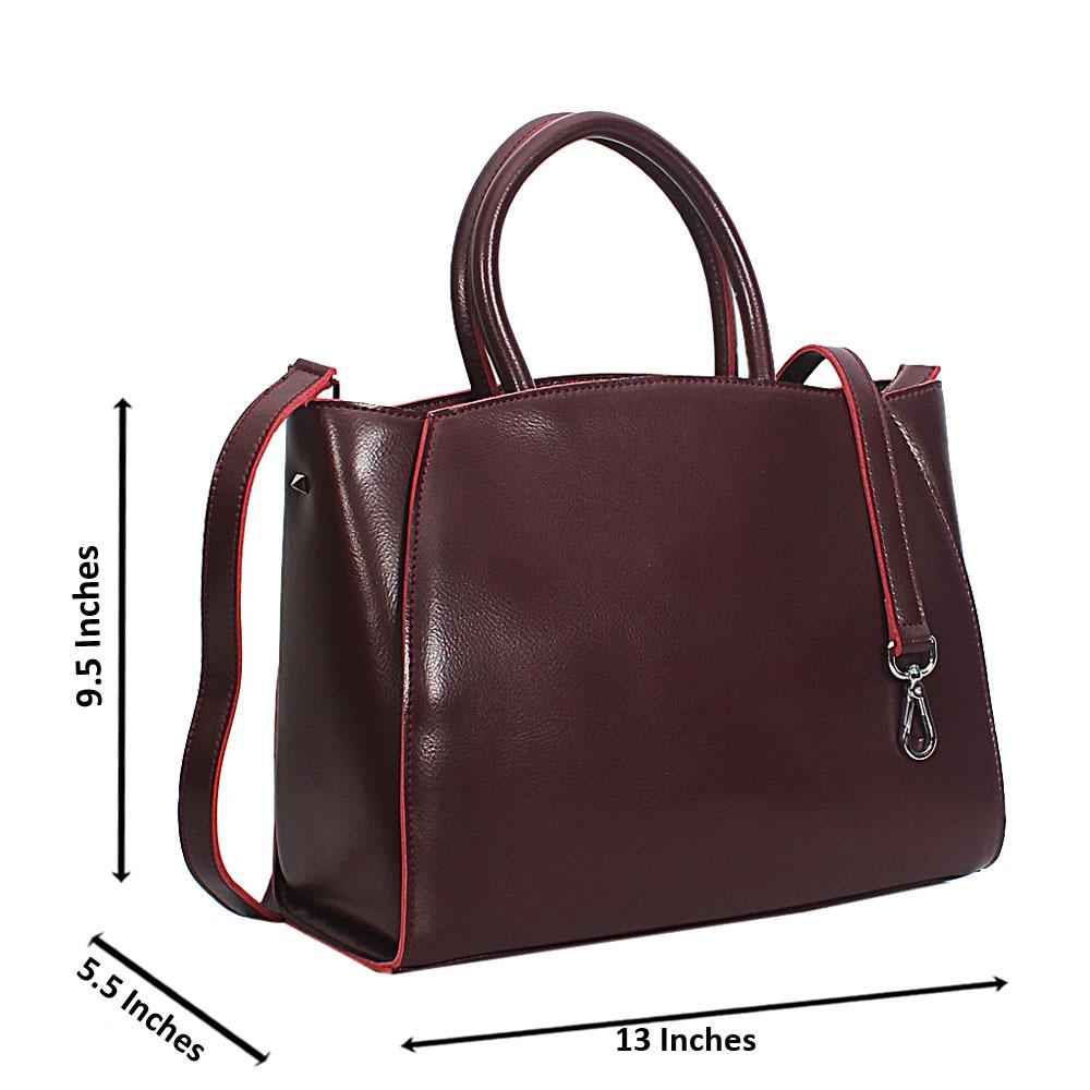 Burgundy Vero Leather Tote Handbag