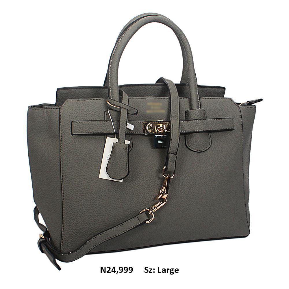 Trout Gray Yolanda Leather Tote Handbag