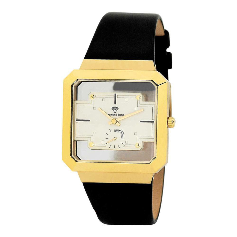 Black Gold Leather Watch