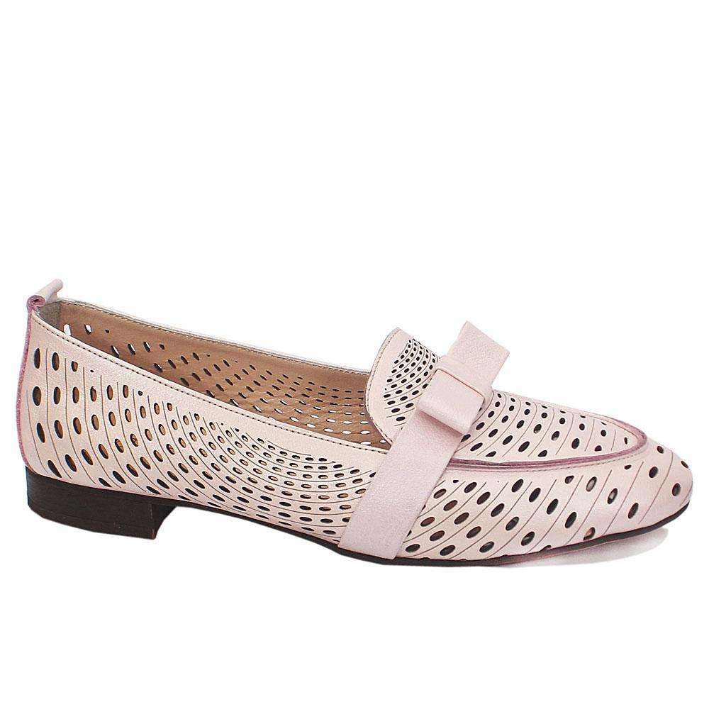 Lilac Jeanie Leather Slipon Shoe