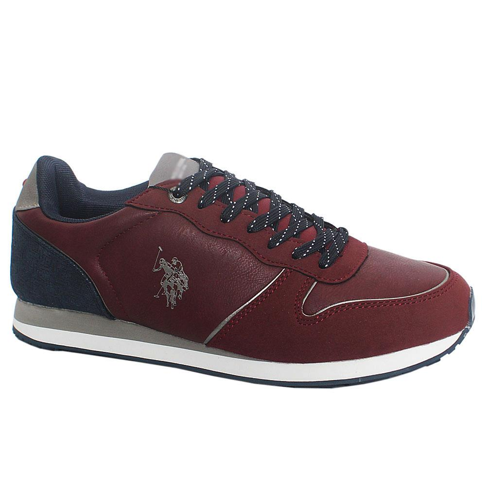 Wine Soren Club Leather Sneakers