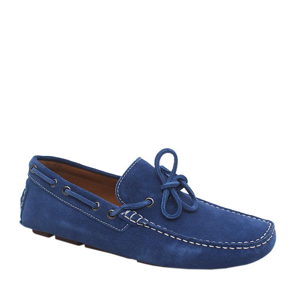 Mark & Spencer Blue Suede Leather Men Loafers Sz 44.5