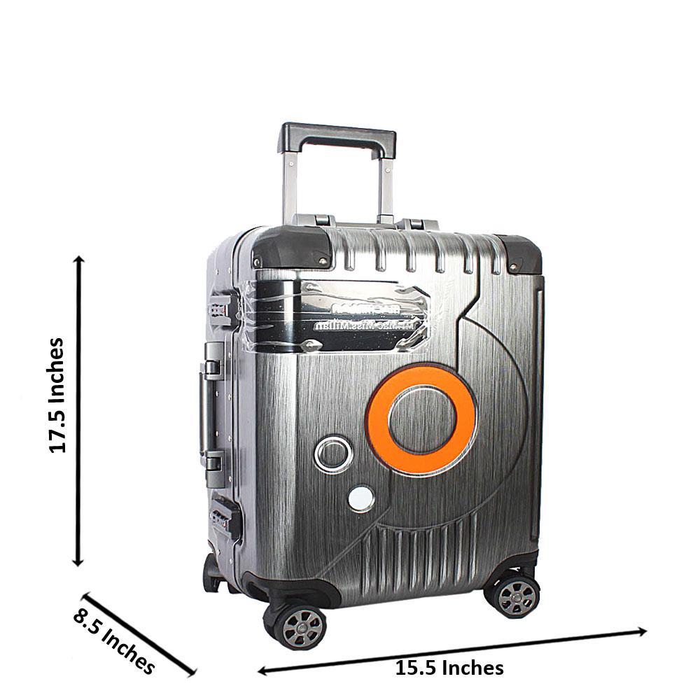 Gray 20 Inch Mr& Mrs Hardshell Carry On Luggage Wt TSA Lock