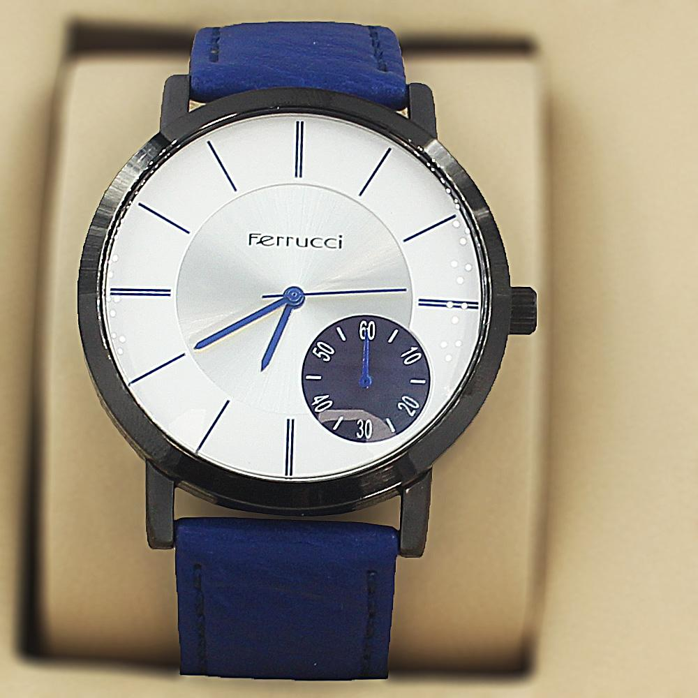 Ferrucci Karstan Blue Leather Fashion Series Watch