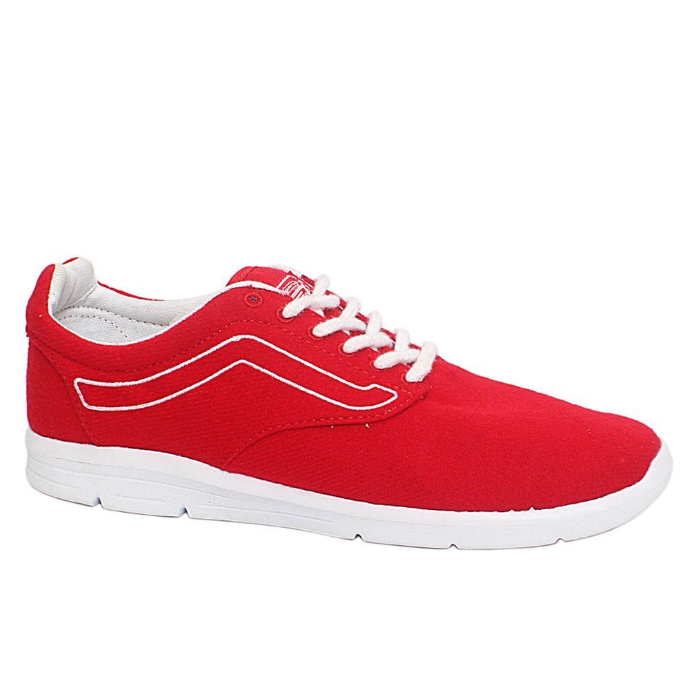 Red Fabric Men Sneakers