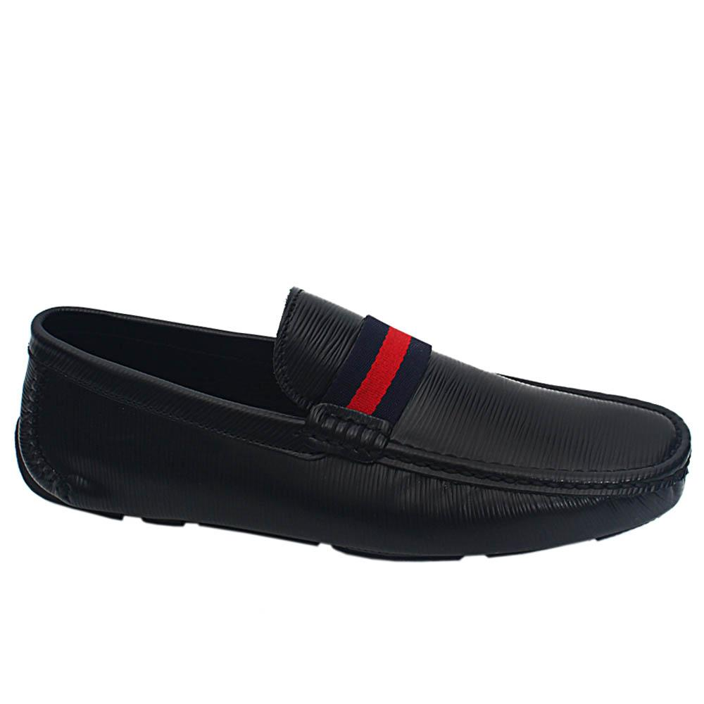 Black Matte Epiluxe Italian Leather Drivers Loafers
