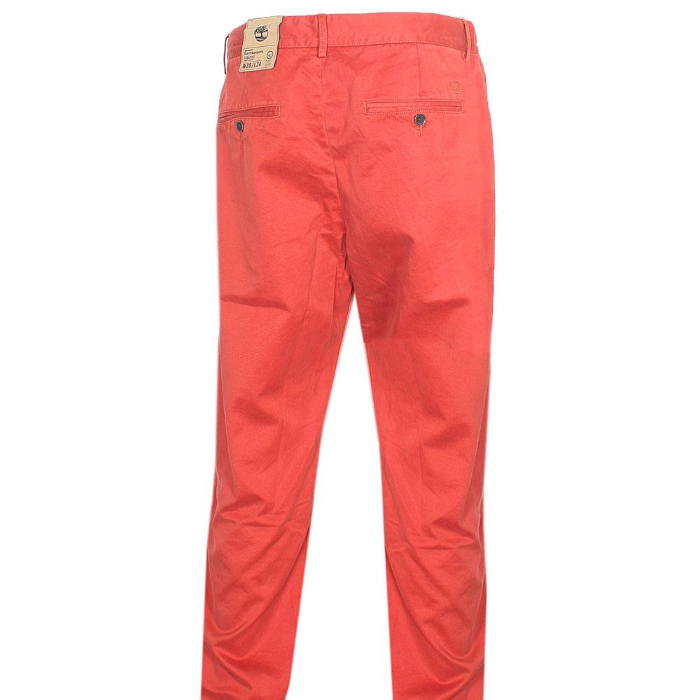 Timberland Orange Men Chinos Trouser Sz W36-L34