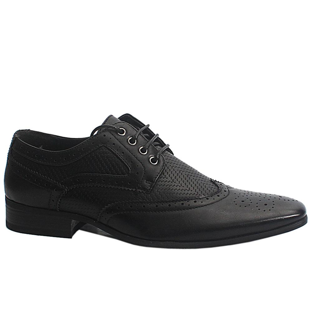 Black Scott Leather Men Brogue