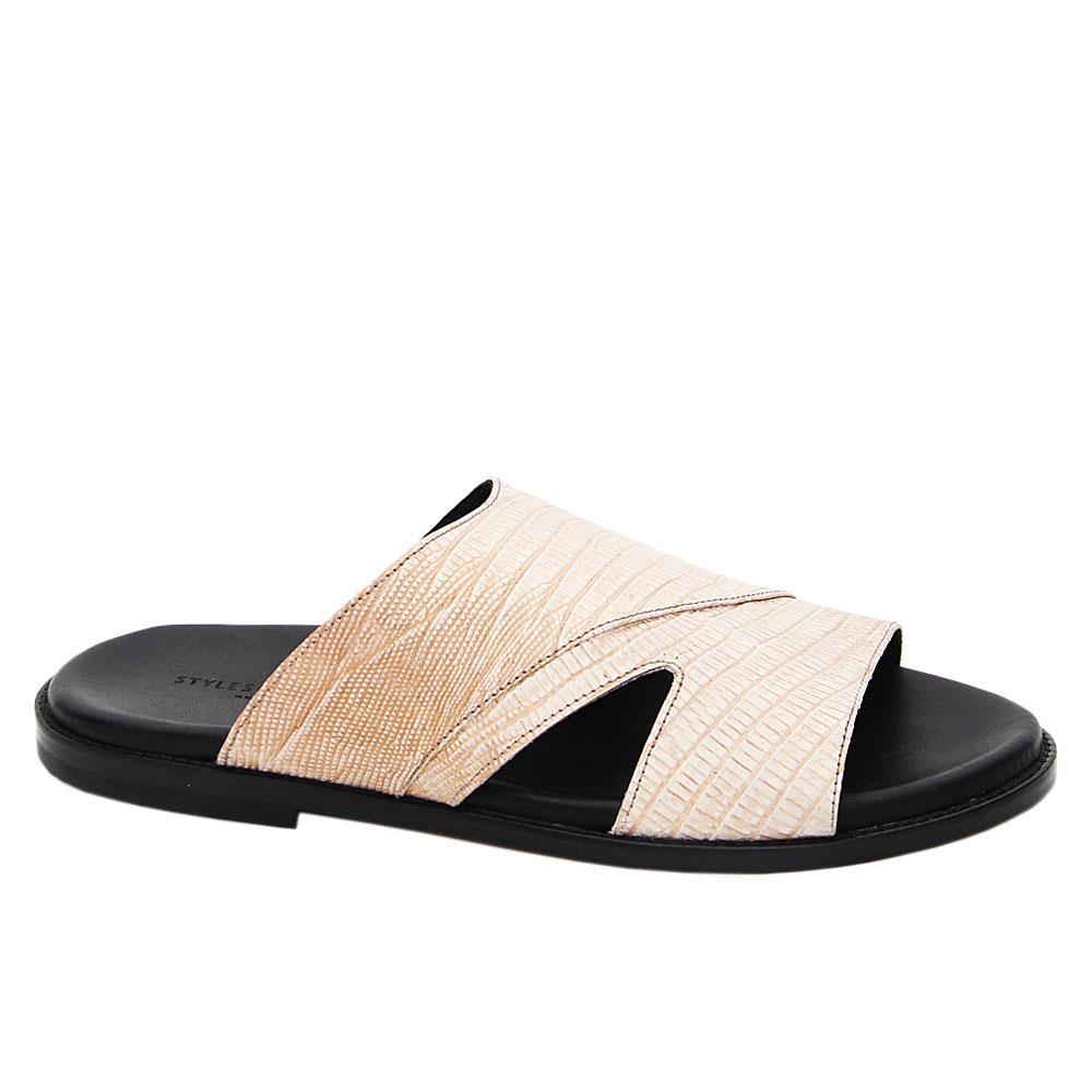 Cream-Javier-Italian-Leather-Slippers