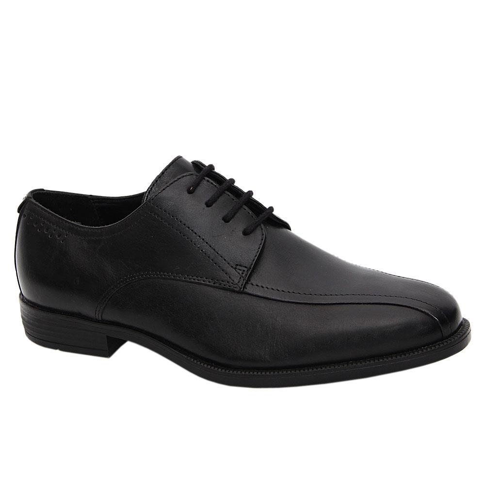 Black Tommaso Leather Men Derby Shoes