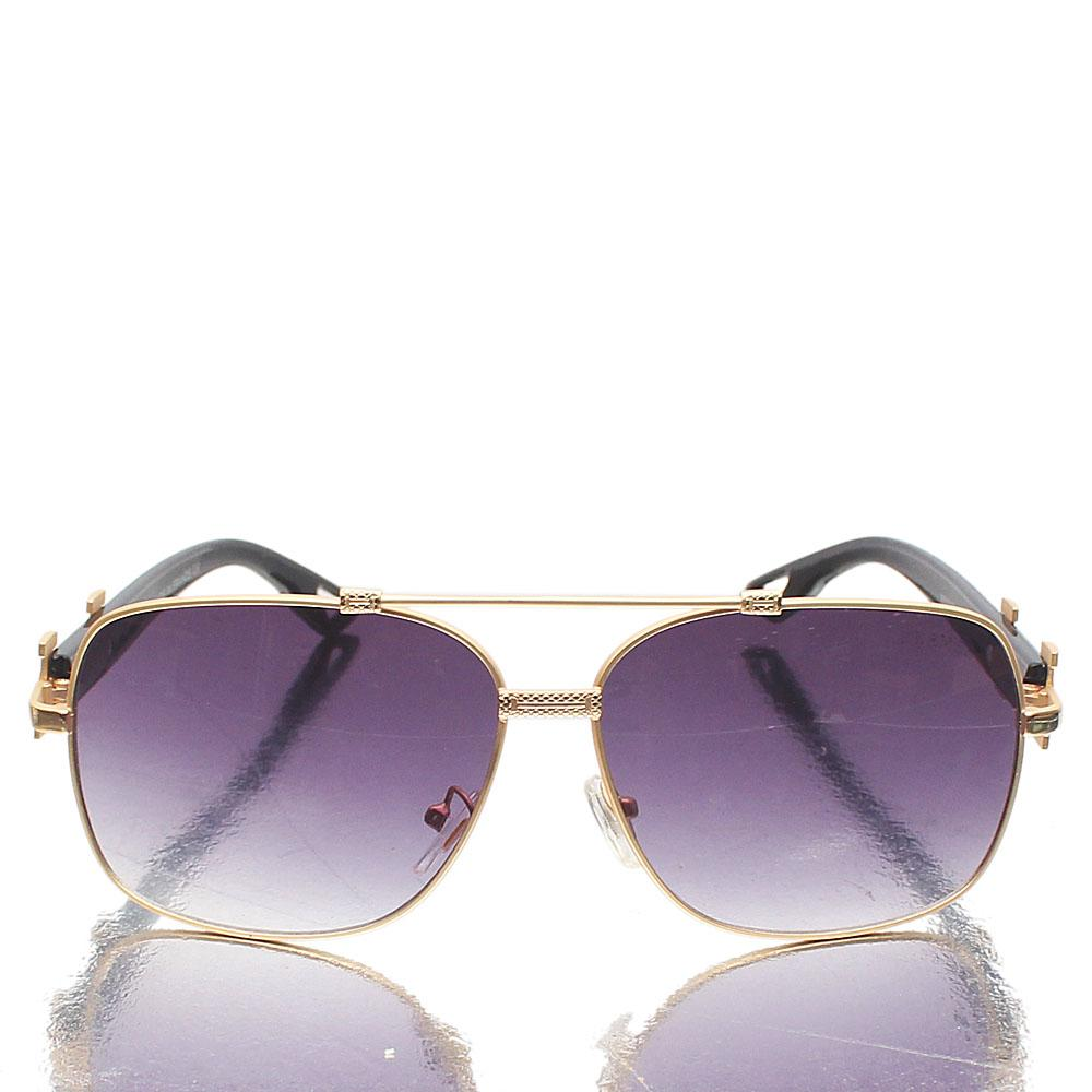 Gold Black Iron Square FSunglasses