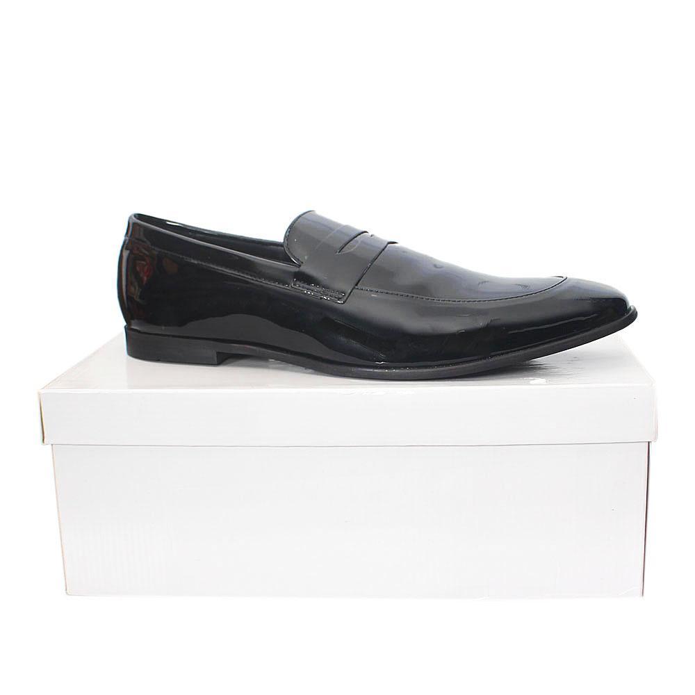 Kurt Geiger Annstead Black Patent Leather  Men Shoes  Sz 46