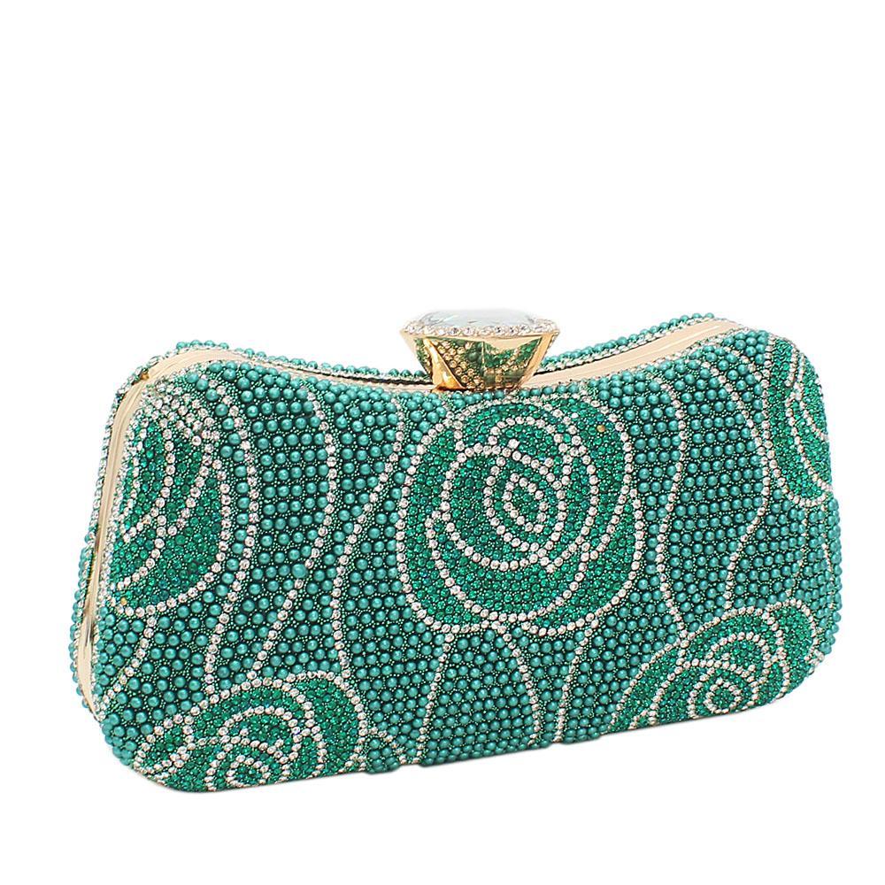 T. Green Elsa Full Studded Clutch Purse