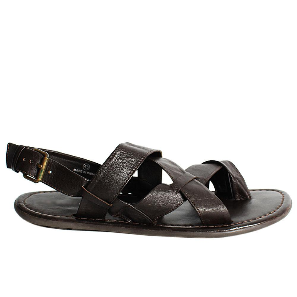 K Geiger Coffee Brown Floter Leather Men Sandals