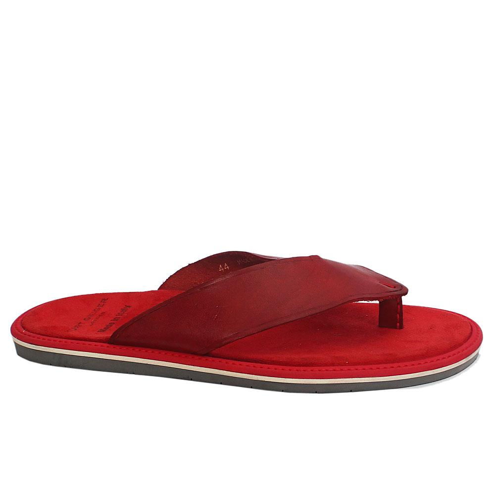 Kurt Geiger Red Suede Leather Men Slippers