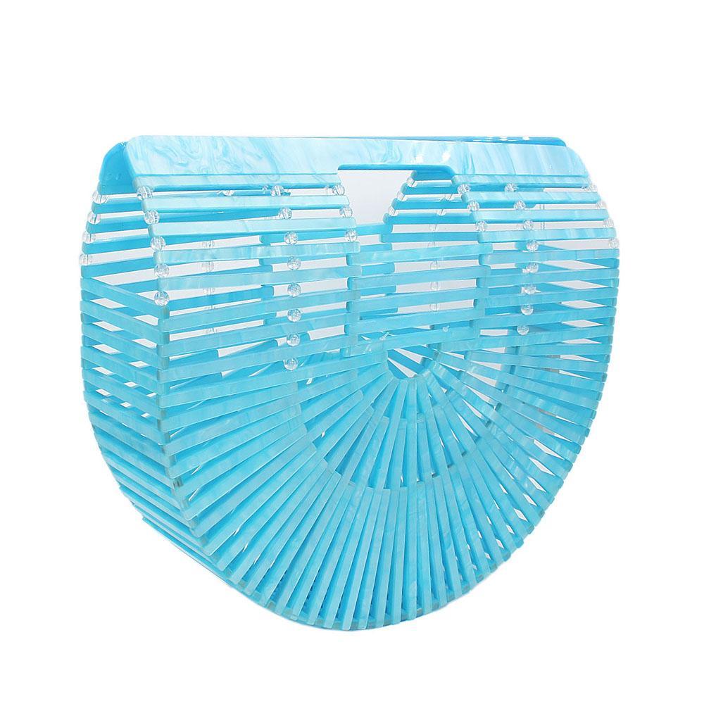 Sky Blue Ark Acrylic Clutch Purse