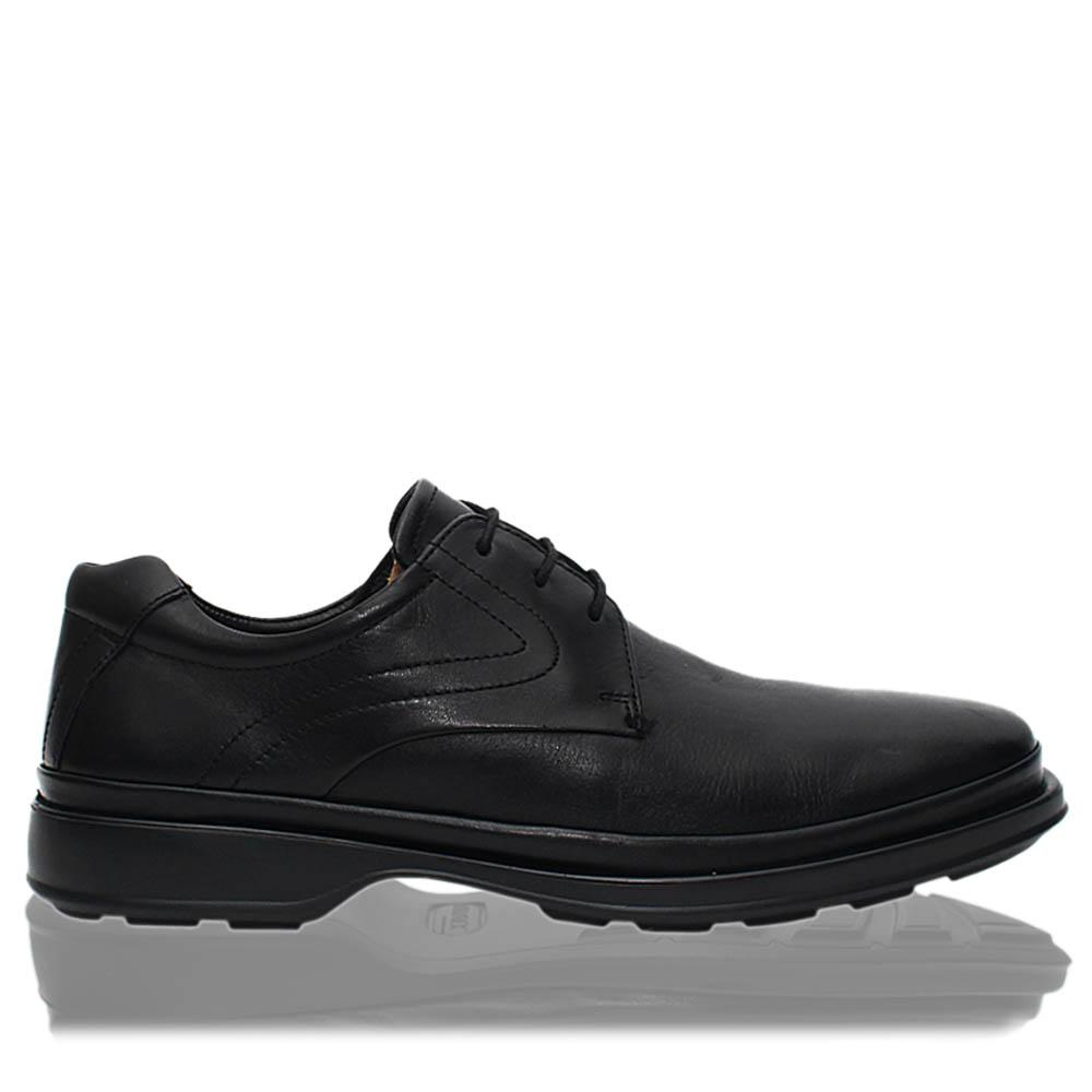 Black Premium Leather Men Derby Shoes