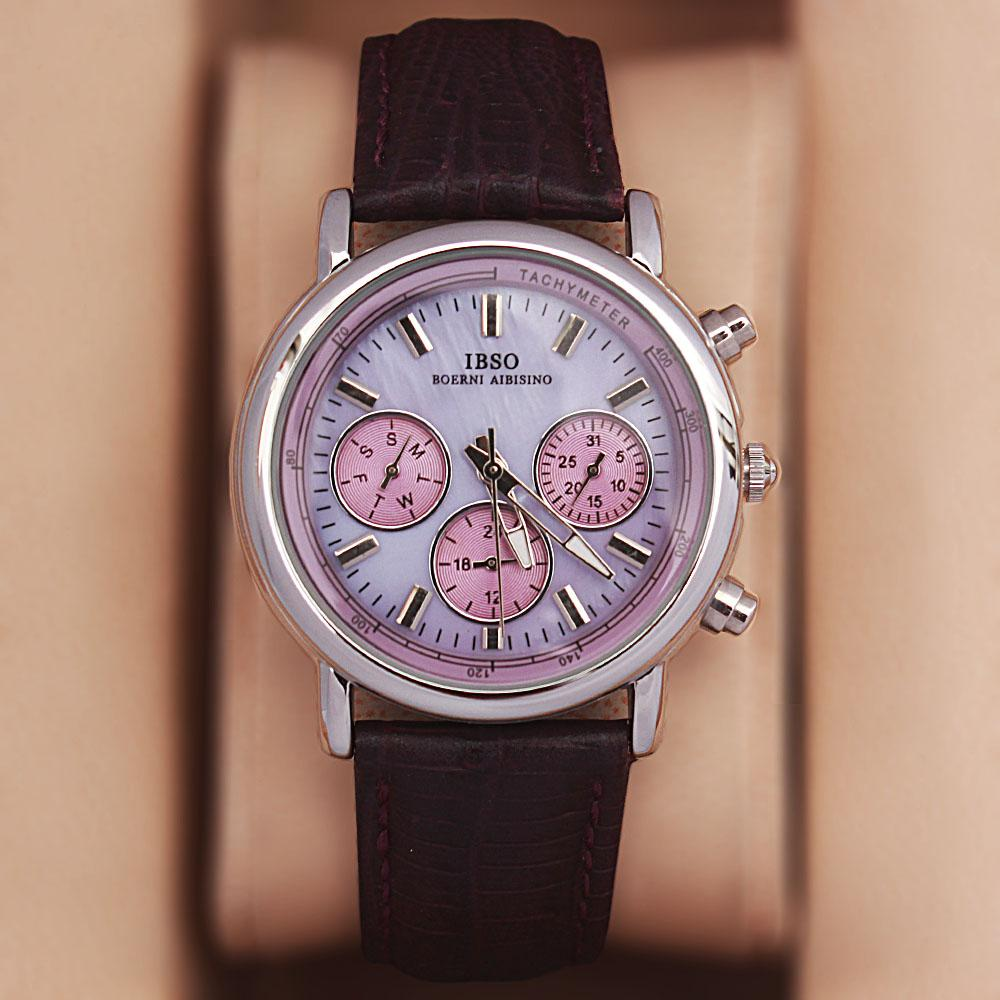 Avallon GP Purple Leather Classic Ladies Watch